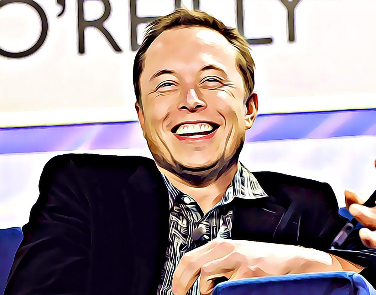 Elon Musk lachend